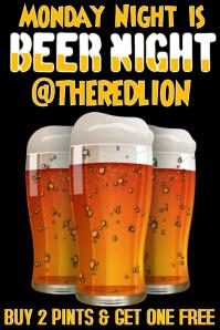 Happy Hour Beer Pub Flyer Template