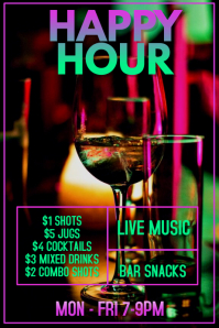 Happy Hour Cocktail Bar Template