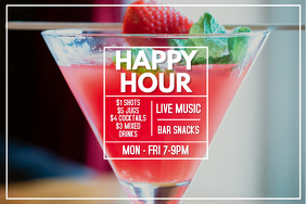 Happy Hour Cocktail Poster Template