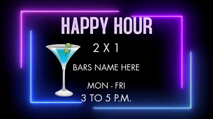 HAPPY HOUR Pantalla Digital (16:9) template