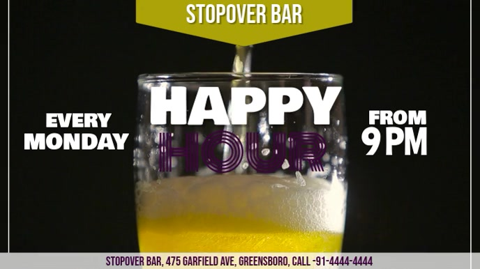 HAPPY HOUR Digitalt display (16:9) template