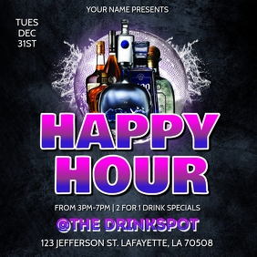 HAPPY HOUR DRINK SPECIAL FLYER TEMPLATE