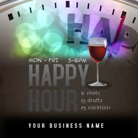 happy hour drink specials video instagram template