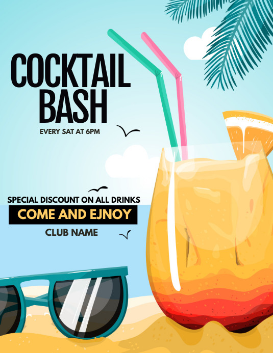 happy hour poster template event poster template