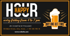 happy hour facebook advertisement template