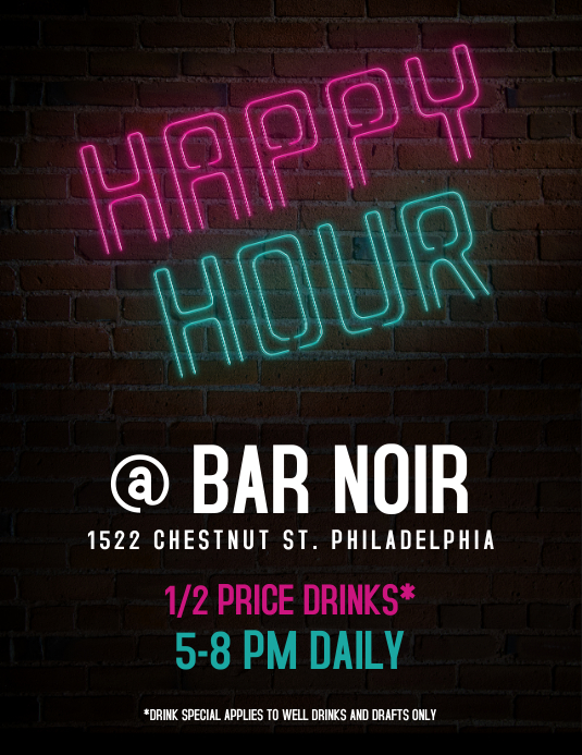 Happy Hour Flyer- Neon