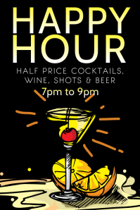 Happy Hour Flyer Poster Template