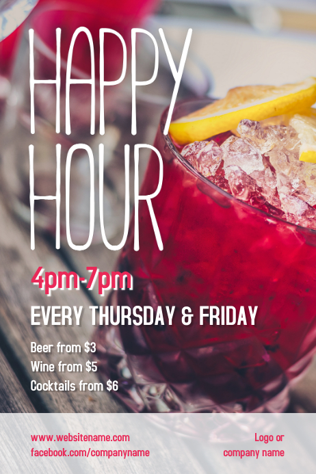Happy Hour Poster 海报 template