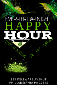 4650 Customizable Design Templates For Happy Hour Bar Flyer