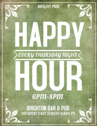 Happy Hour Bar Flyer Similar Design Templates