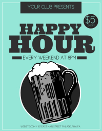 Happy Hour Flyer (US Letter) template