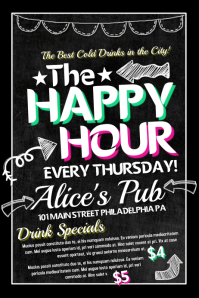 Happy Hour Bar Flyer Template