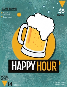 happy hour flyers,event flyers,bar flyers