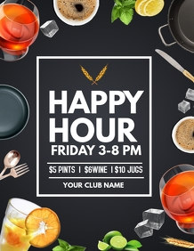 Happy hour flyers