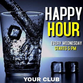 Happy hour instagram advertisement