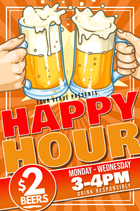 Happy Hour Poster