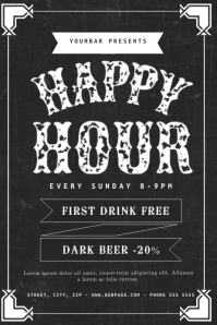 1 260 Customizable Design Templates For Happy Hour Flyer Postermywall