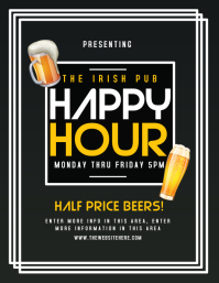 Customizable design templates for beer menu postermywall drink menu template happy hour maxwellsz