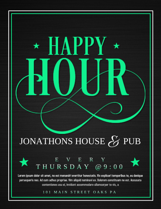 Happy hour template | PosterMyWall