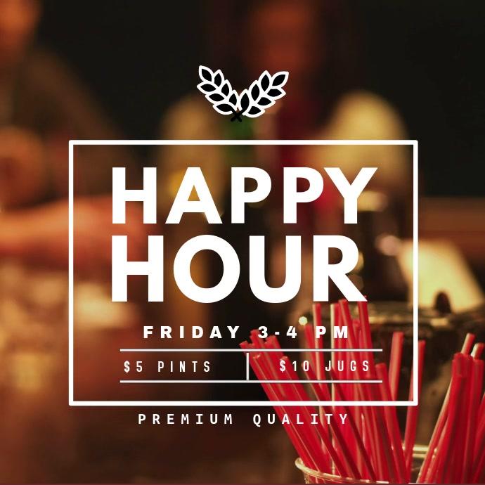 Happy Hour Promo Video Template Pos Instagram