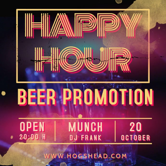 Happy Hour Promotion Video template Instagram-bericht