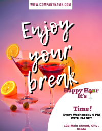 Happy hour time flyer advertisement