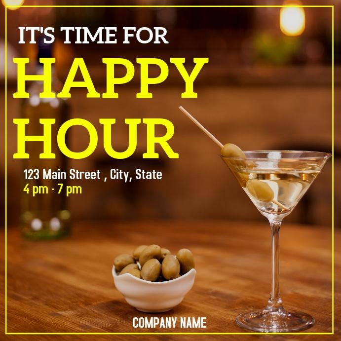 happy hour time instagram post advertisement