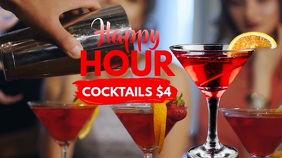Happy Hour Video Ad Template Digital Display (16:9)