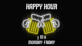 HAPPY HOUR WITH OPTIONAL SOUND Digital Display (16:9) template