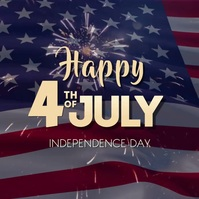 Happy Independence Day 4th of july Card Square (1:1) template