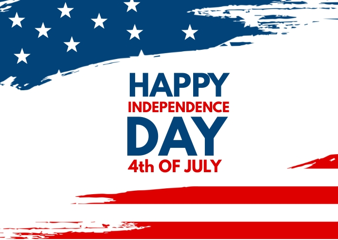 happy independence day 明信片 template