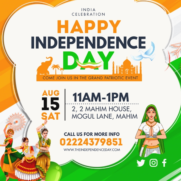 HAPPY INDEPENDENCE DAY Logo template