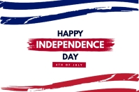 Happy Independence Day Banner 4 × 6 Fuß template