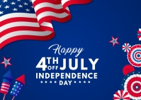 happy independence day Postkarte template