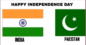HAPPY INDEPENDENCE DAY INDIA AND PAKISTAN TEM Facebook-Anzeige template