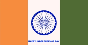 HAPPY INDEPENDENCE DAY INDIA TEMPLATE Facebook-Anzeige