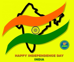 HAPPY INDEPENDENCE DAY INDIA TEMPLATE Medium Rectangle