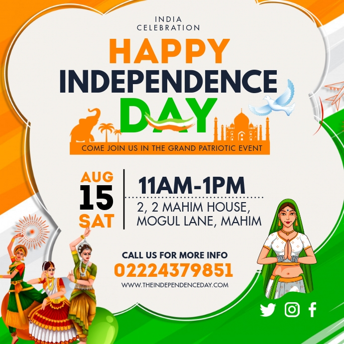 Happy Independence Day of India Social Media template