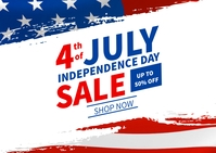Happy Independence day sale banner Kartu Pos template