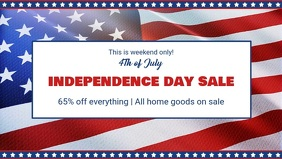 Happy Independence Day Sale Event Facebook Cover Video template