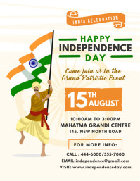 Happy Indian Independence Day Flyer