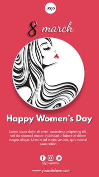 Happy International Women's Day Instagram 故事 template