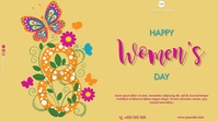 Happy International Women's Day Цифровой дисплей (16 : 9) template