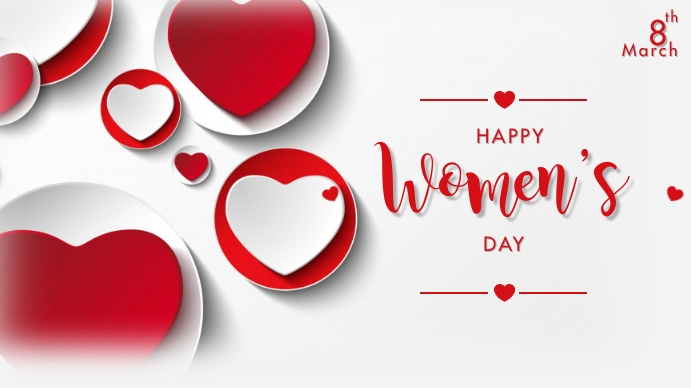 Happy International Women's Day 演示(16:9) template