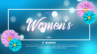 Happy International Women's Day Pantalla Digital (16:9) template