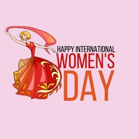 happy international women's day flyer Iphosti le-Instagram template