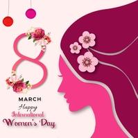 Happy International Women's Day Template Persegi (1:1)