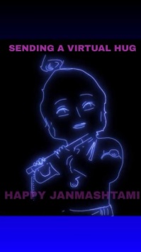 HAPPY JANMASHTAMI LORD SHIVA TEMPLATE