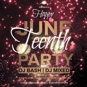 HAPPY JUNETEENTH PARTY template instagram