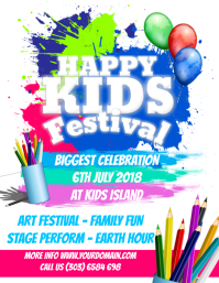 Happy Kids Festival Flyer Template